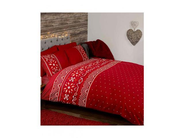 Nordic Christmas 2 Piece Uk Kingus Queen Sheet Set X1 Double Sided Sheet 2 X Pillowcases Red Neweggcom