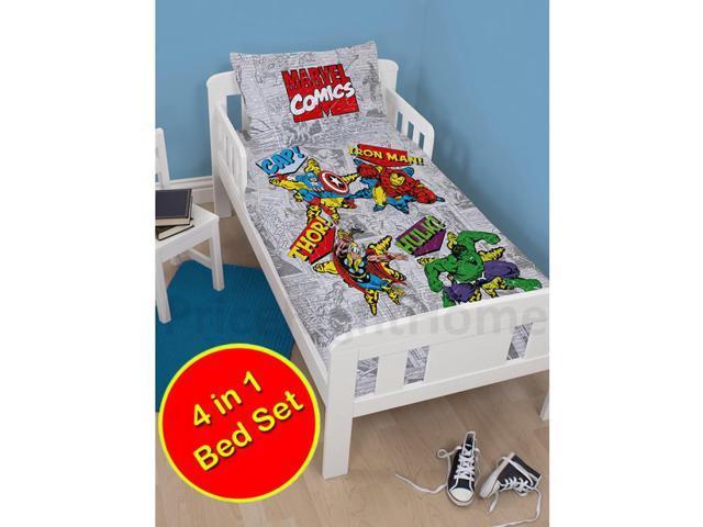 Marvel Comics Retro 4 In 1 Uk Junior Us Toddler Bedding Bundle