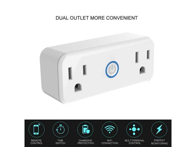 WiFi Smart Plug, Remote Control Electrical Outlet Switch Sonoff S20 ...