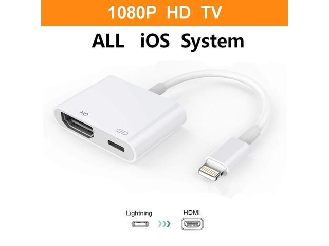Compatible iPhone iPad and iPod, Lightning to HDMI Adapter, Lightning  Digital AV Adapter with Lightning Charging Port for HD TV Monitor Projector