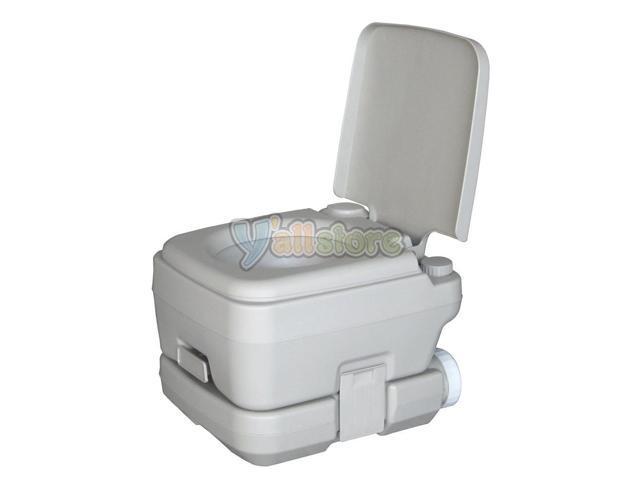Portable Camping Toilet : L holding tank portable camping toilet flush porta vehicle boat