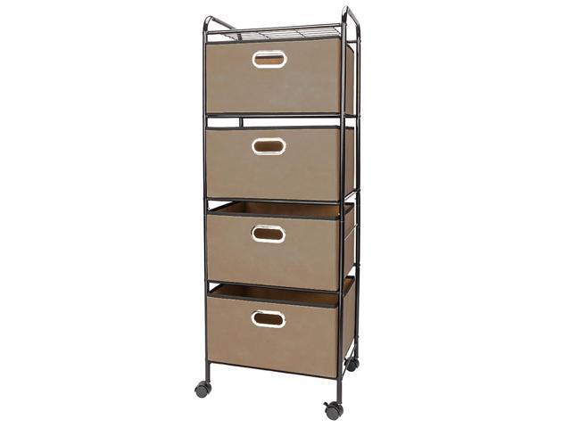 4 Drawers Rolling Storage Cart Scrapbook Paper Office School