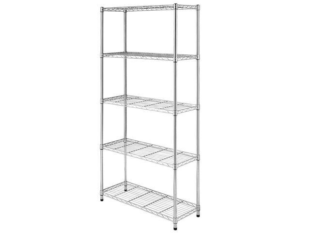 Nsf Wire Shelving | 5 Layer Nsf Wire Shelving Rack Metal Shelf Adjustable Unit Garage