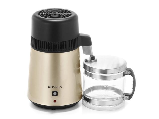750w 4l Upgraded Pure Water Distiller All Stainless Steel Interior Filter Gold
