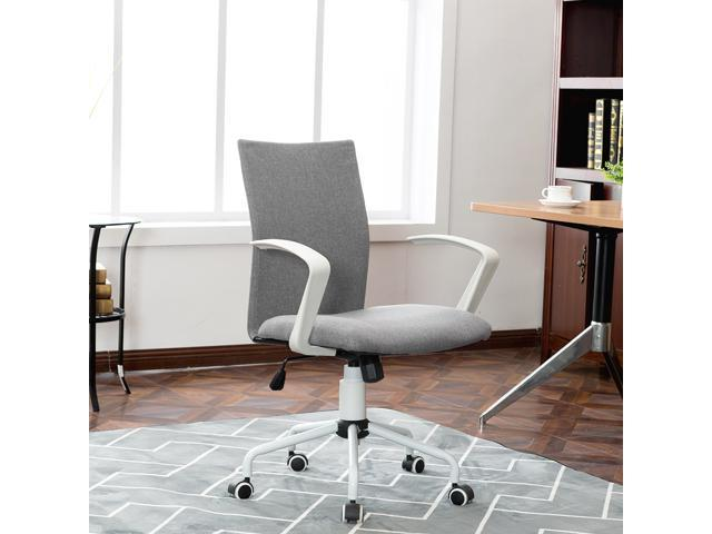 Magnificent Fabric Grey Task Desk Chair With Adjustable Height For Home Office Students Computer Meeting Room Bank And Reception Areas Cjindustries Chair Design For Home Cjindustriesco