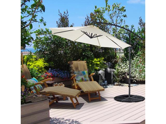 Cloud Mountain 10 Ft Cantilever Patio Umbrella Cantilever Offset Beach Umbrellas  Outdoor UV Resistant Polyester 8