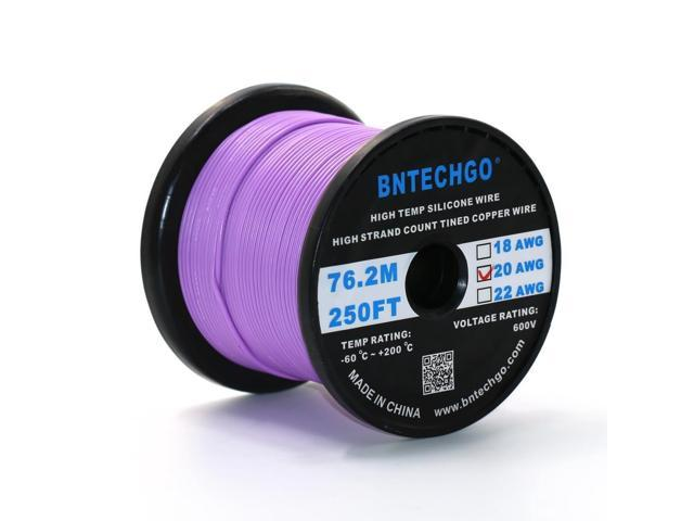 Bntechgo 24 gauge silicone wire 250 feet purple spool soft and bntechgo 24 gauge silicone wire 250 feet purple spool soft and flexible high temperature resistant greentooth Image collections