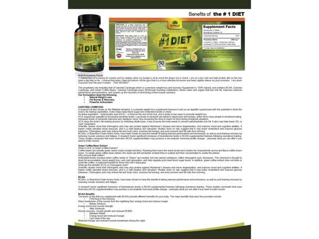 The 1 Diet Complex With Garcinia Cambogia Green Coffee Bean And