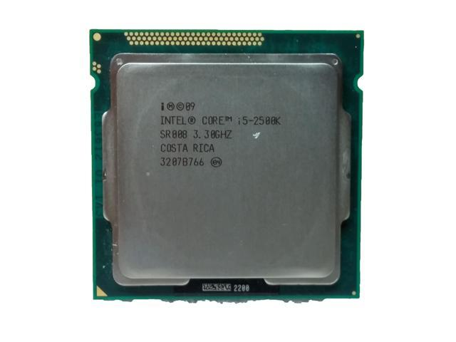 Intel Core i5 -2500K 3.3GHz LGA 1155/Socket H2 5 GT/s Desktop CPU SR008 - Newegg.com
