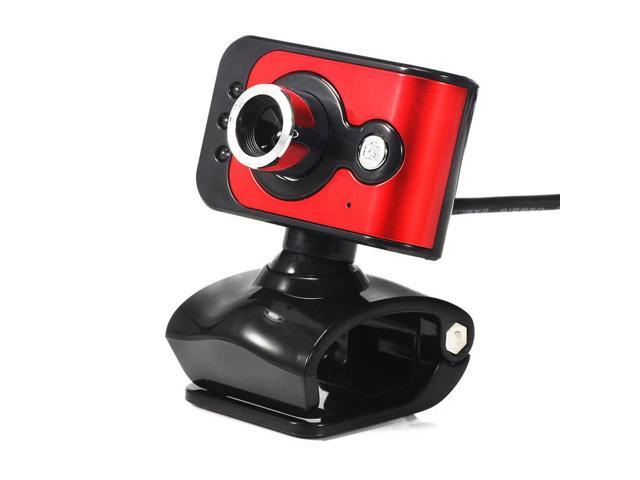 Fashion USB 2.0 3LED HD Webcam Auto Focus Camera Web Cam With Microphone For PC