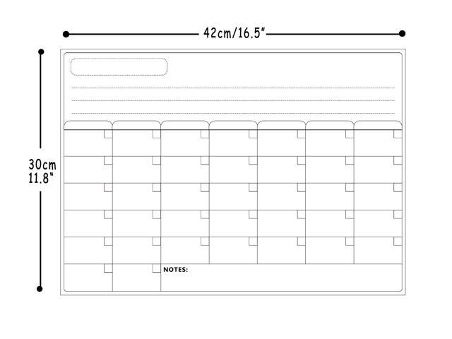 Magnetic Refrigerator Calendar Dry Erase Board For Fridge Calendar