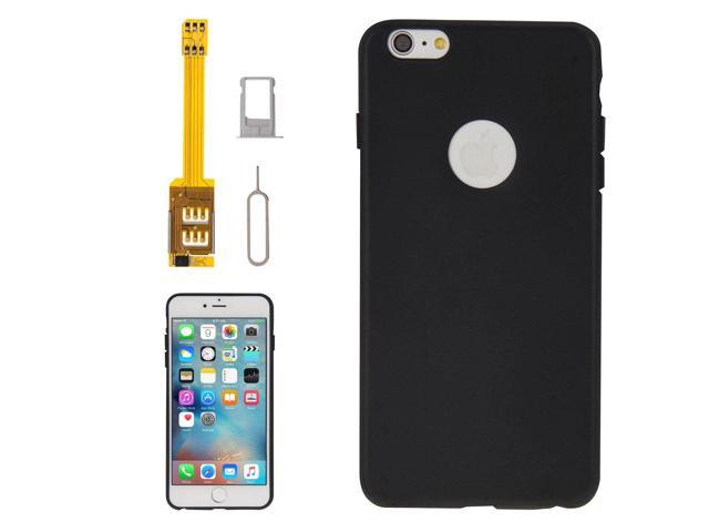 the best attitude 37a3b 61243 4 in 1 (Dual SIM Card Adapter + TPU Case + Tray Holder + Sim Card Tray  Holder Eject Pin Key), For iPhone 6s Plus - Newegg.com