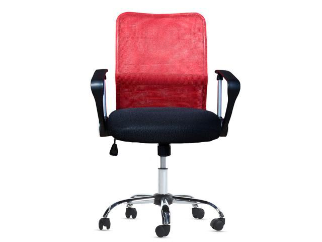 New Red Mid Back Mesh Computer Swivel Office Chair Ergonomic