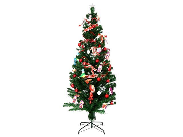 kinbor 7ft premium spruce hinged artificial christmas tree w280 led lights and stand without - 7ft Artificial Christmas Tree