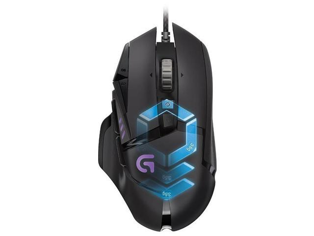 39a1b556a15 Logitech G502 Proteus Spectrum RGB Tunable Gaming Mouse 910-004615