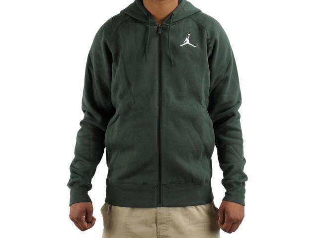 d2d0da238a37 Nike Air Jordan Flight Fleece Full-Zip Green Men s Hoodie 823064-327 X-