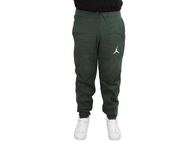 5d6ca204924 Nike Air Jordan Flight Fleece Green Men's Sweatpants 823071-327 Large