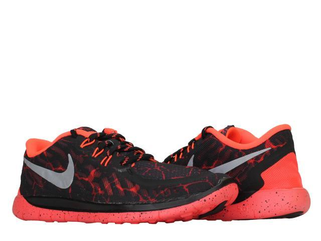4acf8ce7b084 Nike Free 5.0 Lava (GS) Black Crimson-Silver Boys Running Shoes 807593