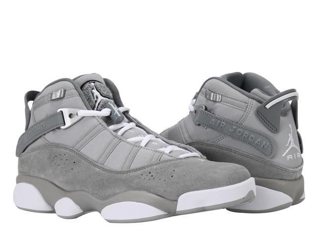62e2f5d52284 Nike Air Jordan 6 Rings Silver White-Grey Men s Basketball Shoes 322992-014