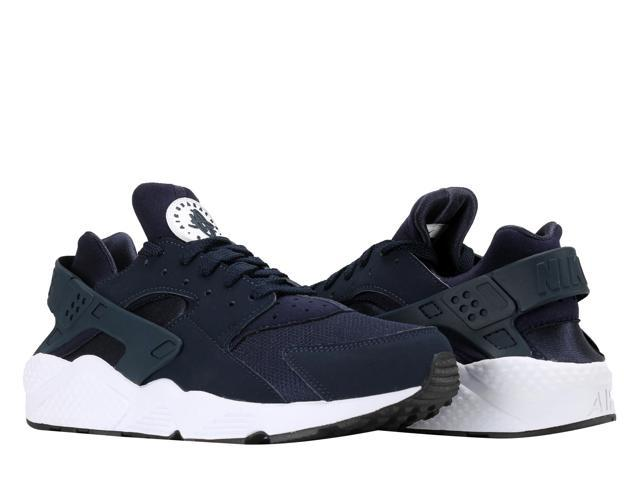 new arrivals 97ec8 c60f5 Nike Air Huarache Obsidian Black-White Men s Running Shoes 318429-413 Size 9