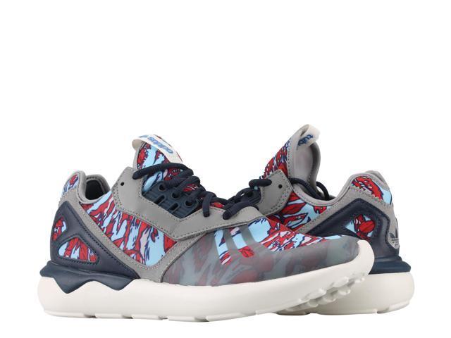 innovative design 40db6 e8fba Adidas Originals Tubular Runner Grey Navy Off White Men s Running Shoes  B35637 Size 9.5
