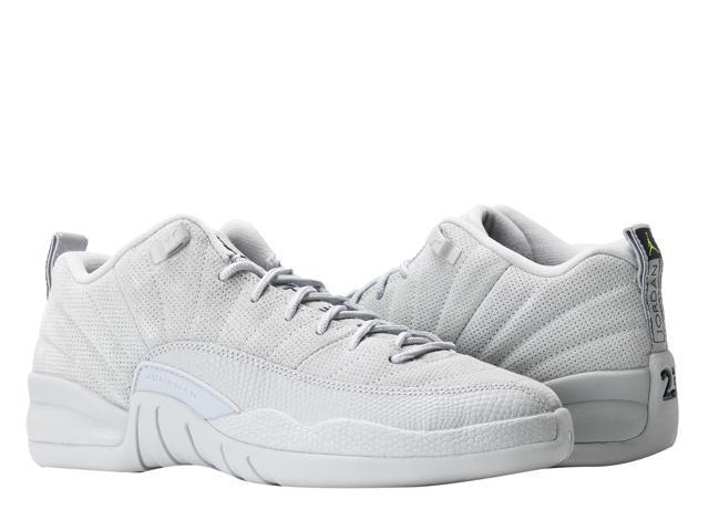 3799a9ed969437 Nike Air Jordan 12 Retro Low BG Wolf Grey Big Kids Basketball Shoes  308305-002