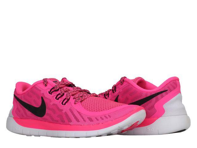 separation shoes 0ba48 7ac35 Nike Free 5.0 (GS) Pink PowerWhite-Black Girls Running Shoes 725114-600  Size 5