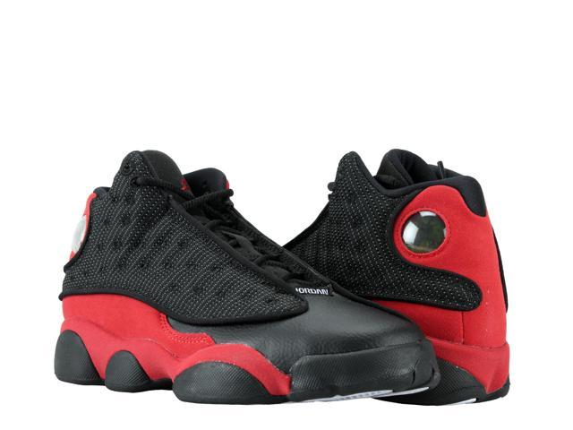 brand new 96279 a695f Nike Air Jordan 13 Retro BG Black Red-White Big Kids Basketball Shoes 414574