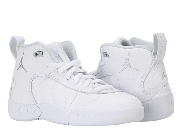 4b888d5e462d Nike Air Jordan Jumpman Pro BP Wht Plat Little Kids Basketball Shoes  909419-006