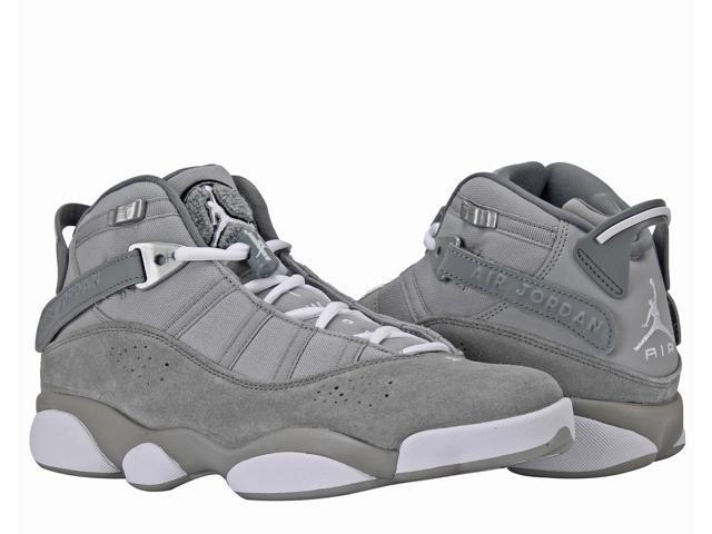 3ff2abab8c6482 Nike Air Jordan 6 Rings BG Grey White Big Kids Basketball Shoes 323419-014