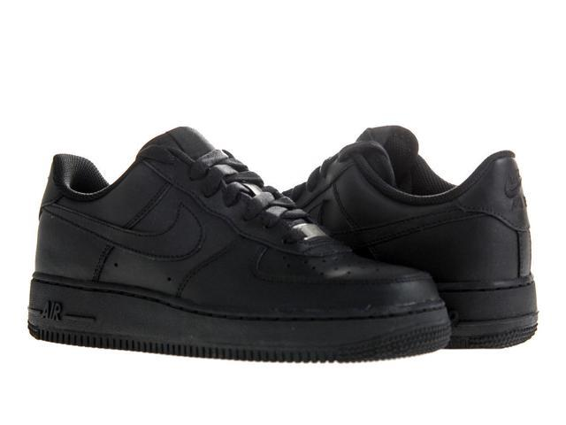 on sale 6fc6f d3b69 Nike Air Force 1 (GS) Black Black Big Kids Basketball Shoes 314192-