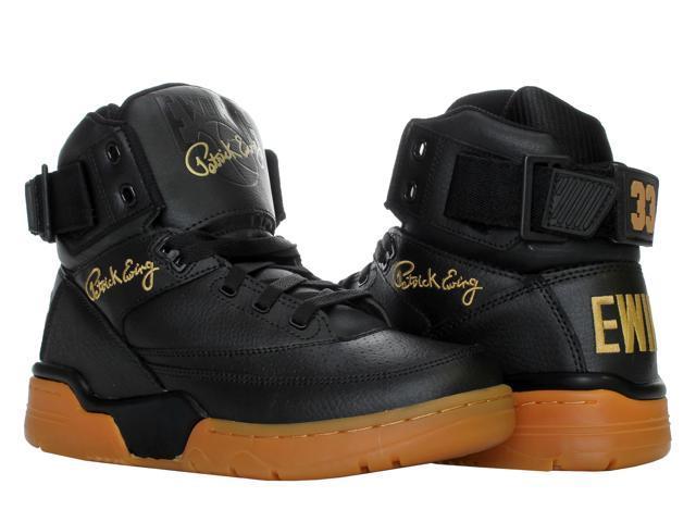 20eed576a0 Ewing Athletics Ewing 33 Hi Black Gold Gum Men s Basketball Shoes 1EW90124- 046 Size
