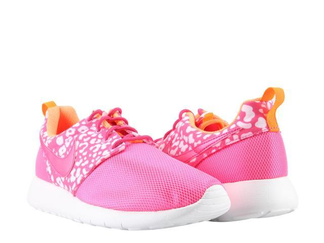 promo code d4e37 5c5b6 Nike Roshe Run Print (GS) Pink Black Big Girls Running Shoes 677784-603  Size 6