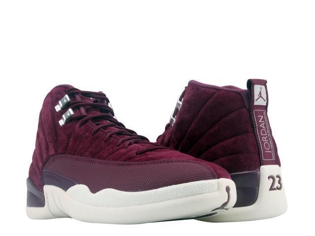 Nike Air Jordan 12 Retro Bordeaux Sail-Silver Men s Basketball Shoes 130690 -617 37581ccc3