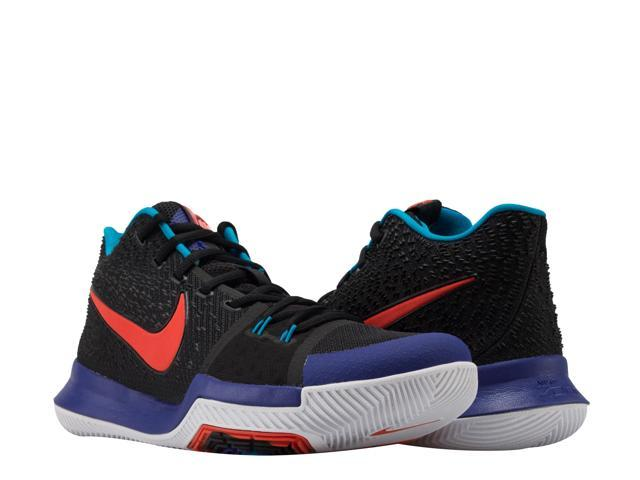 08f4f570f687 Nike Kyrie 3 Black Team Orange-Concord Men s Basketball Shoes 852395-007  Size