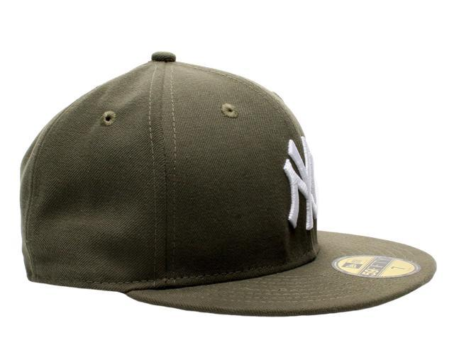 New Era 59Fifty New York Yankees Olive Green Men s Fitted Hat 5950 Size 7 2801a7288fd