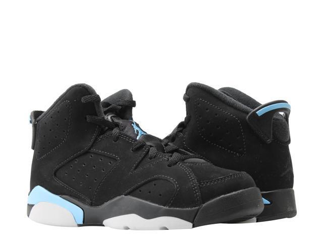 2fb4994e90d Nike Air Jordan 6 Retro BP Black/Blue Wheat Little Kids Shoes 384666-006