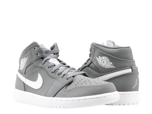 wholesale dealer 05c56 59cd9 Nike Air Jordan 1 Mid Cool Grey White Men s Basketball Shoes 554724-036 Size