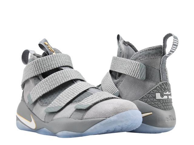 separation shoes 8a157 13aa4 Nike Lebron Soldier XI (GS) Grey Platinum Big Kids Basketball Shoes 918369-