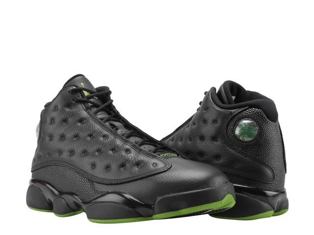 4f522a754214a4 Nike Air Jordan 13 Retro Black Altitude Green Men s Basketball Shoes  414571-042 Size