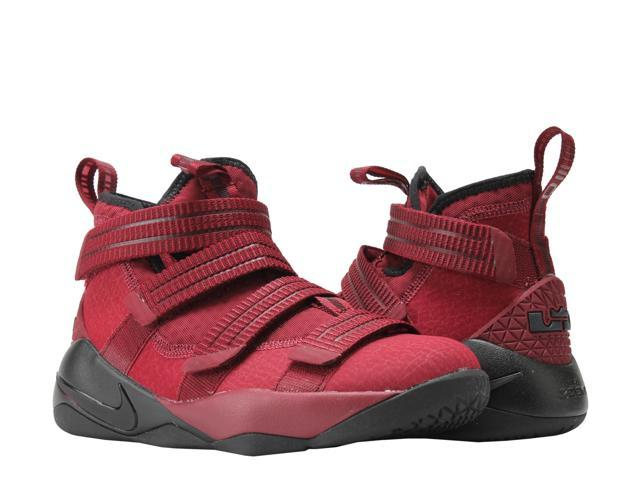 Nike Lebron Soldier XI (GS) Team Red Black Big Kids Basketball Shoes 918369 16231ad37