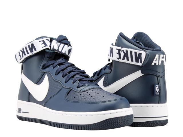 best service 2810f 2eba5 Nike Air Force 1 High 07 NavyWhite NBA Pack Mens Basketball Shoes 315121