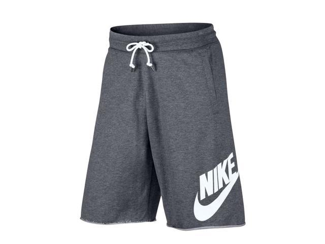 a0649792532b Nike Sportswear GX Logo Carbon Heather White Men s Shorts 836277-091 Large