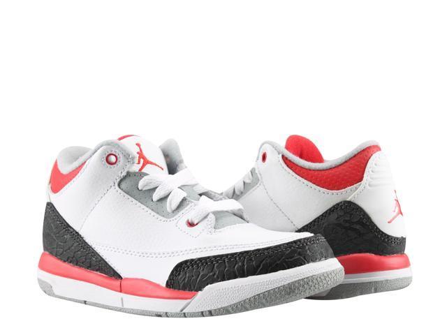 info for c60aa 38e1f Nike Air Jordan 3 Retro (PS) Fire Red Little Kids Shoes 429487-120
