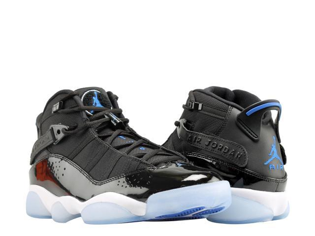 b96c360b80e1 Nike Air Jordan 6 Rings Black Hyper Royal-White Men Basketball Shoes 322992-