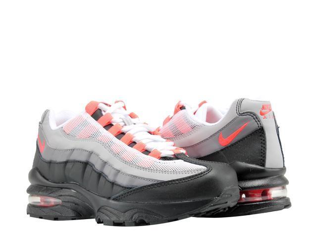fa25b5468fdb Nike Air Max  95 (GS) Black Solar Red-Grey Big Kids Running Shoes ...