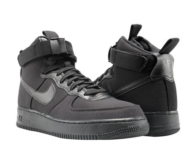 cc830394c600 Nike Air Force 1 High  07 Canvas Triple Black Men s Basketball Shoes AH6768- 001