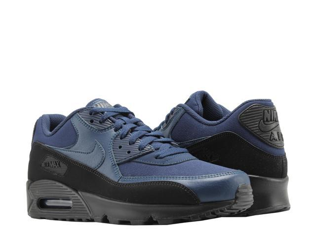 ad0e2640d9 Nike Air Max 90 Essential Black/Midnight Navy Men's Running Shoes AJ1285-007  Size