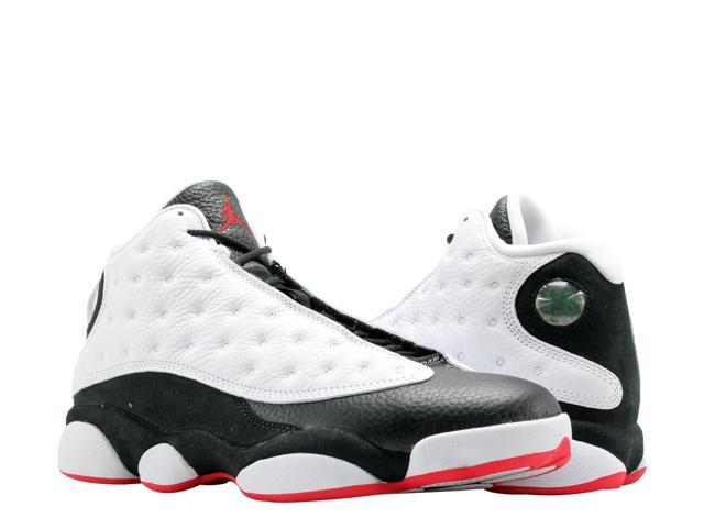 new concept 4283c 984ff Nike Air Jordan 13 Retro WhiteTrue Red-Black Mens Basketball Shoes 414571-