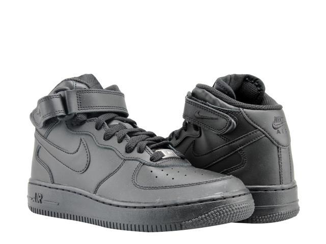 Nike Air Force 1 Mid (GS) BlackBlack Big Kids Basketball Shoes 314195 004 Size 5